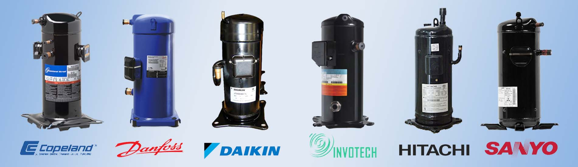 Danfoss InvoTech Copeland Panasonic SANYO Daikin Hitachi Scroll Compressor